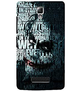 PrintDhaba QUOTE D-6983 Back Case Cover for LENOVO A2010 (Multi-Coloured)