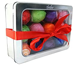 Bath Bombs Deluxe Gift Set - DOZEN Lush Luxury Bath Fizzies - Best Spa and Beauty Product. Infused with Organic Shea Butter, Coconut Oil, Avocado Oil and a Variety of Aromatherapy Essential Oils
