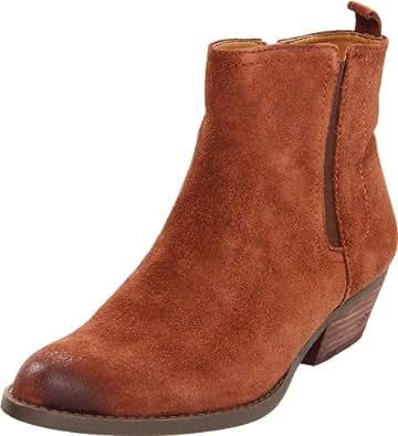 Nine West Women's Sosie Ankle Boot,Brown/Brown Suede,5 M US