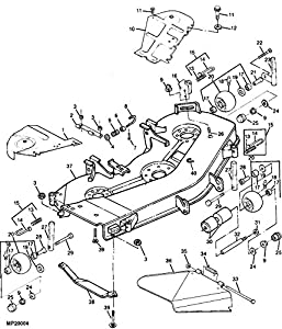 B00L801KCS as well John Deere Lt180 Parts Diagram together with S 66 John Deere D160 Parts also OMM142698 I011 in addition John Deere L1 Parts Diagram. on john deere ltr180 mower deck belt diagram