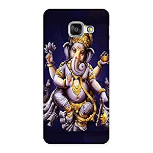 Premium Dancing Ganesha Back Case Cover for Galaxy A3 2016