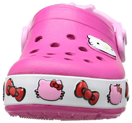 crocs girls 39 crocslights hello kitty light up clog light. Black Bedroom Furniture Sets. Home Design Ideas