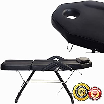 New Adjustable Massage Bed Chair Beauty Spa Tattoo Salon Hydraulic Stool