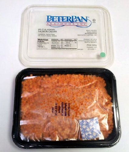 Pink salmon (red) caviar Peter Pan 500 g (1.1 lb). Complimentary upgrade to Overnight FedEx shipping