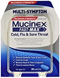 Mucinex Fast-Max Adult Cold, Flu and Sore Throat Caplets-20 ct