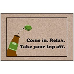 Take Your Top Off Indoor/Outdoor Doormat