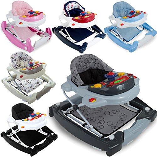 3IN1 Lauflernhilfe / Babyschaukel mit Spielcenter (12 Melodien) und Einlage (PINK)