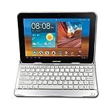 RioRand Wireless Bluetooth Keyboard Aluminum Stand Case for Samsung Galaxy Note 10.1 N8000 N8010 N8013 (White)