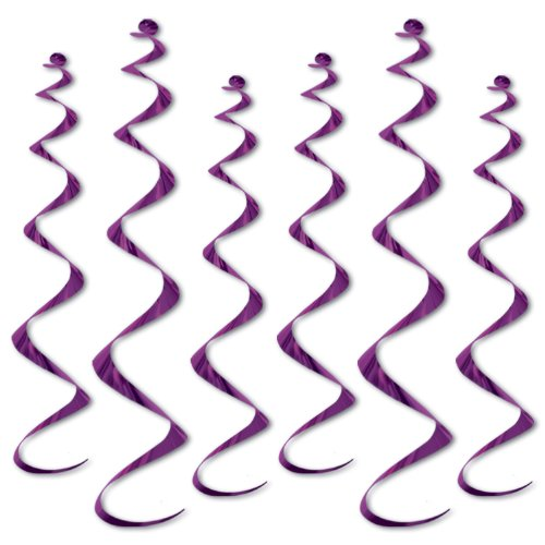 Beistle 50065-PL 6-Pack Twirly Whirlys, 4 to 24-Inch and 2 to 36-Inch