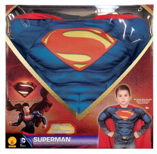 Superman: Man Of Steel Superman Muscle Chest Shirt Box Set, Blue