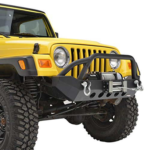 E-Autogrilles TJ YJ Off Road Jeep Wrangler Front Bumper with Winch Plate