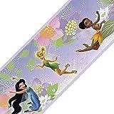 Disney Fairies Purple Set of 4 Self-Stick Wall Border Rolls