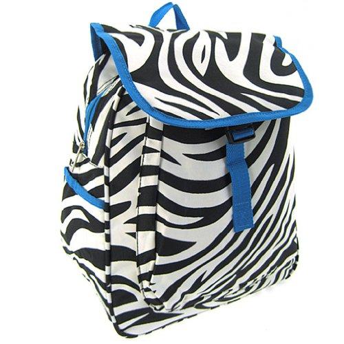 World Traveler Blue Zebra 14-inch Multipurpose Backpack - 1