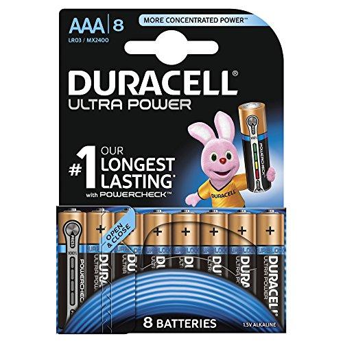 Duracell Ultra Power AA Batterie Alcaline A, Confezione da 8