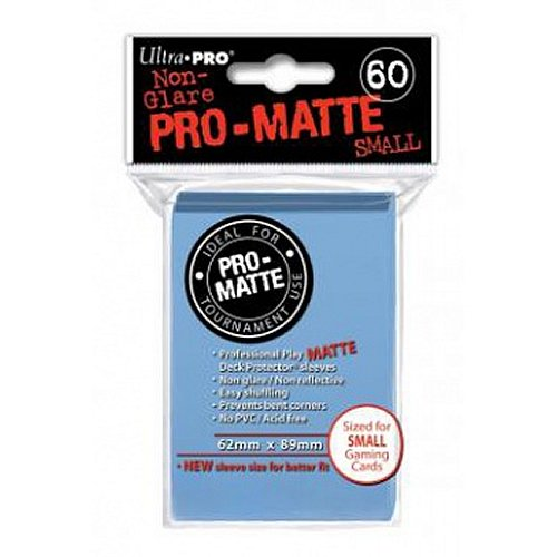 Ultra-Pro Pro-Matte Sleeves - Light Blue, Small - for Yu-Gi-Oh, Cardfight/CFVG (60 Deck Protectors) - 1