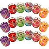 Gel Candles Color Full Glass Container Pack Of 6 Candles