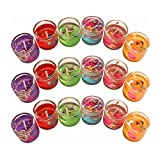 #4: Gel Candles Color Full Glass container Pack of 6 Candles