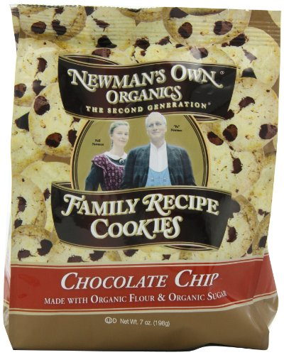 Newman's Own Organics Family Recipe Cookies, Chocolate Chip, 7-Ounce Bags (Pack of 6)