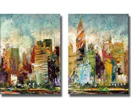 Metropolis by Bruce Marion 2-pc Custom Premium Stretched Canvas Set (Ready to Hang)