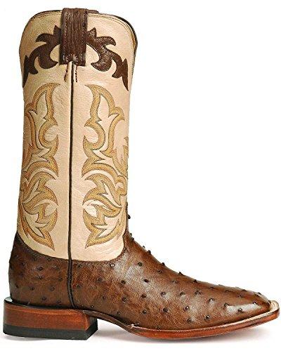 Justin Men's Remuda Ostrich Western Boot Antique Bn 9.5 EE U