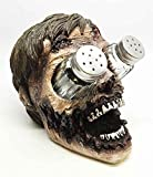 WALKING UNDEAD ZOMBIE SALT PEPPER SHAKERS HOLDER SCULPTURE RESIN