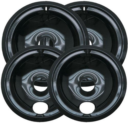 """Range Kleen - Porcelain Drip Pans, Style B, Multi Pack *** Product Description: Range Kleen - Porcelain Drip Pans, Style B, Multi Pack Multi-Pack Includes Two 6"""" & Two 8"""" Drip Pans Fits Most Ge(R) & Hotpoint(R) Plug-In Electric Ranges Style B *** front-555222"""