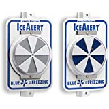 Ice Alert Reflector, Universal Mount Capable, Visual Turns Blue When Temperature Reachs Freezing