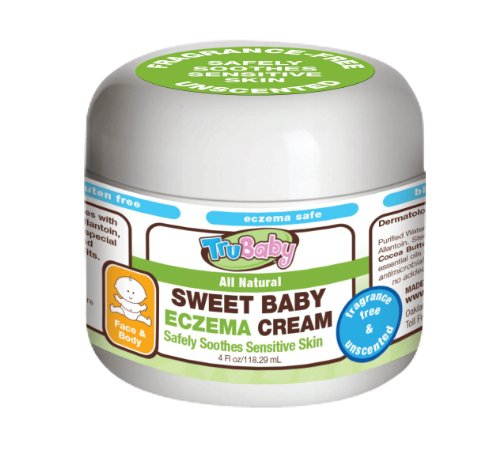 TruBaby Sweet Eczema Baby Cream- Unscented - 4oz (Natural Eczema Cream compare prices)
