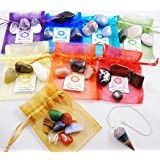 29 Chakra Healing Balancing Tumbled Stones Kit Including Pendulum for Collectors, Crystal & Reiki Healers and Yoga Practioner - Now with Girasol Opal