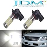 JDM ASTAR 1200 Lumens Extremely Bright 144-EX Chipsets H10 9145 LED Bulbs with Projector for DRL or Fog Lights, Xenon White