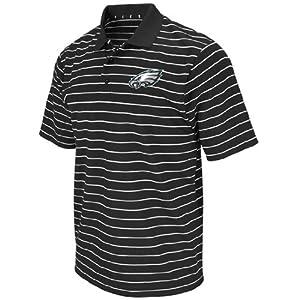 Philadelphia Eagles FanFare III Black Clima Cool Striped Polo Shirt by VF