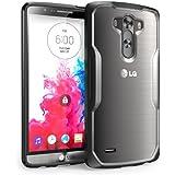 SUPCASE LG G3 Case - Premium Hybrid Protective Bumper Case (Black/Clear) (Black)