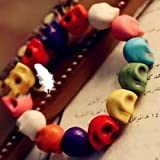 CY-Buity Korean Fashion Unisex MulColor Stretch Bangle Skull Skeleton Bracelet Punk Style