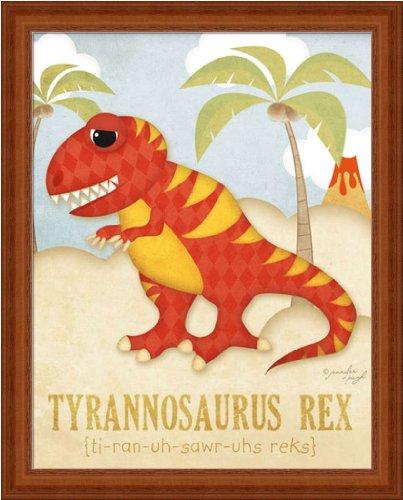 Tyrannosaurus Rex Kids Room Décor Dinosaur 12.25X15.25 Framed Art Print Picture By Jennifer Pugh front-469767