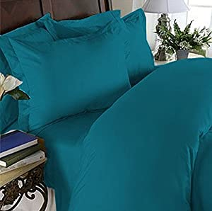 Elegant Comfort 3 Piece 1500 Thread Count Luxury Ultra Soft Egyptian Quality Coziest Duvet Cover Set, King/California King, Teal Blue