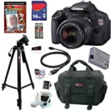 51pq9O fhDL. SL160  Canon EOS Rebel T3i 18 MP CMOS Digital SLR Camera with EF S 18 55mm f/3.5 5.6 IS II Zoom Lens + 10pc Bundle 16GB Deluxe Accessory Kit