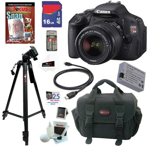 Canon EOS Rebel T3i 18 MP CMOS Digital SLR Camera with EF-S 18-55mm f/3.5-5.6 IS II Zoom Lens + 10pc Bundle 16GB Deluxe Accessory Kit at Sears.com