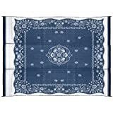 Camco 42851 Reversible Outdoor Mat (9' x 12', Blue Oriental)