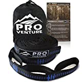Premium Hammock Tree Straps - 100% Non-Stretch, Fastest Set Up with 30 loops - Heavy Duty But Lightweight. (8 Feet)