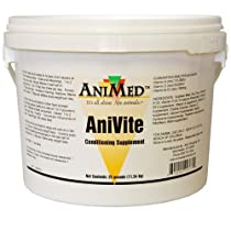 AniMed Anivite Conditioning Supplement for Livestock Horses and Pets, 25-Pound