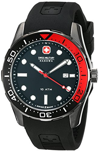 Swiss Military 42mm Black Polyurethane Synthetic Sapphire Watch 06-4213.30.007