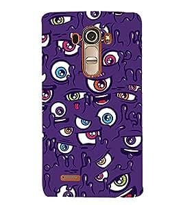 Vizagbeats Multicolor Eyes Back Case Cover for LG GPro Lite::LG G Pro Lite Dual D686
