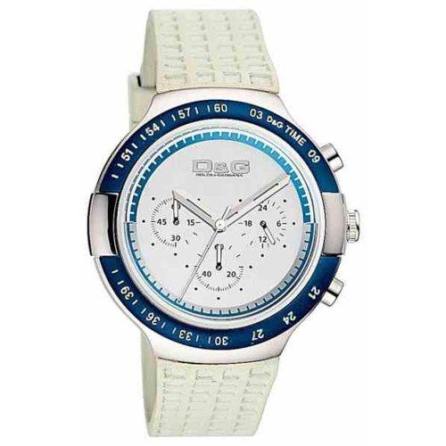 D & G Watch Juan Chr Plastic Blue Bezel Silver Dial Grey Pu Dw0417