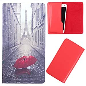 DooDa - For Karbonn Titanium Dazzle3 S204 PU Leather Designer Fashionable Fancy Case Cover Pouch With Smooth Inner Velvet