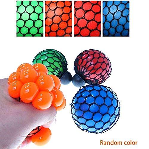 BIBITIME-4PCS-Vent-Grape-Ball-Stress-Relief-Squeeze-Toy-Hand-Wrist-Toy-Random-Color