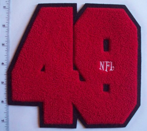 "San Francisco SF 49ers NFL 6 1/2"" Chenille Letter Varsity Jacket Patch (sew on) at Amazon.com"