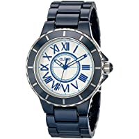 Marina Blue Ceramic Silver-Tone Dial And Accents Blue Ceramic Women's Watch