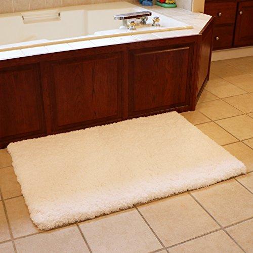 Bath Mat Bathroom Rug Non-slip Soft Microfiber Shower Rugs 31x 47 inch for Bathroom Bedroom Living Room Kmat