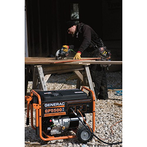 Generac – Generac GP6500 Portable Generator – 389cc OHV, 8125 Surge Watts, 6500 Rated Watts, Model# 5940