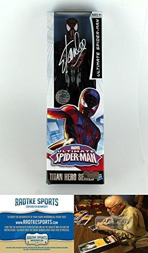 Stan Lee Autographed/Signed Ultimate Spider Man Marvel Series Action Figure Box Black Suit